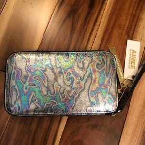 Aimee Kestenberg Dhena Oil Slick Metallic Wallet